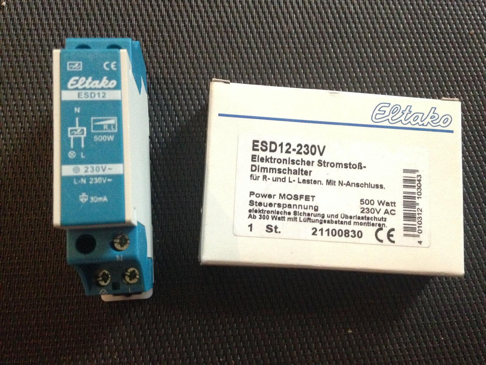 Eltako ESD12-230V Elekronischer Stromstoß-Dimmschalter für R und L Lasten mit N-   Der Schatz des Kindes, unser Glück