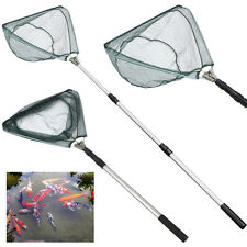 "New 67"" Retractable Telescoping Pole Folding Fishing Brail Landing Net Tackle US"