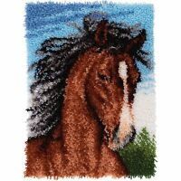 Stallion Latch Hook Kit Rug Horse 20 Inch By 27 Inch Wonder Art Wall Hanging