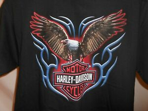 Harley Davidson Springfield Mo >> Details About 2006 Denney S Harley Davidson Springfield Mo Bald Eagle T Shirt Size Large