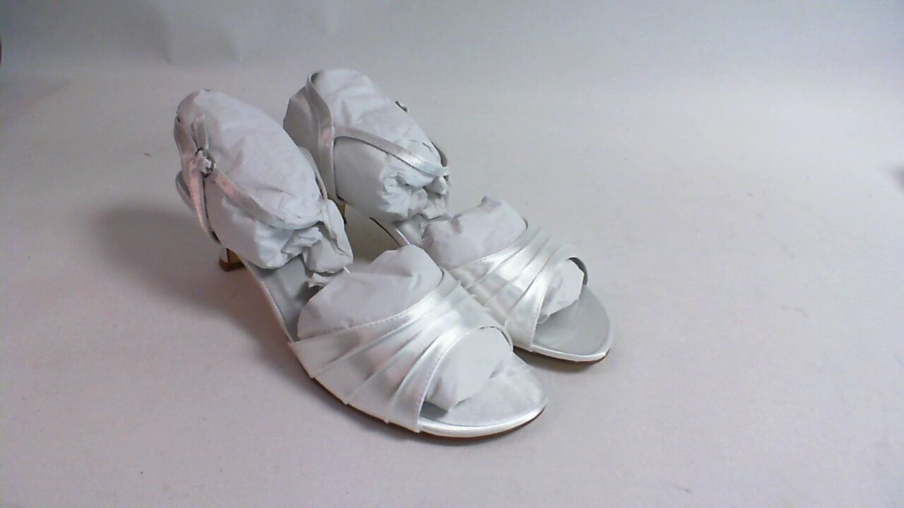 New Dyeables Wedding Shoe - White Satin - Brielle - US 12 B UK 10 #11B344