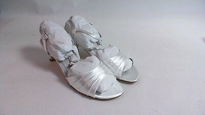 Nuevos Zapatos de boda Dyeables-Blanco Satinado-Brielle-US 9 EE UK 7 #11B347