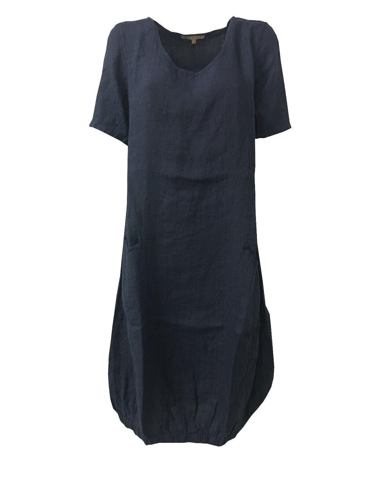 HUMILITY 1949 Kleid Frau Kurze Ärmel mit Taschen Vorderseite HA6077