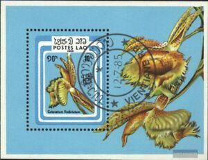 Laos-Block107-kompl-Ausg-gestempelt-1985-Briefmarkenausstellung