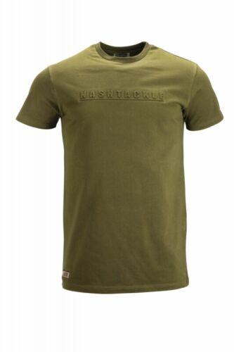 Nash Emboss T-Shirt NEW Carp Fishing Green T Shirt All Sizes