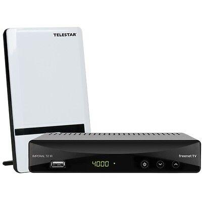 IMPERIAL T2 IR Set mit TELESTAR ANTENNA 7 LTE weiß DVB-T2 HD freenet TV Receiver