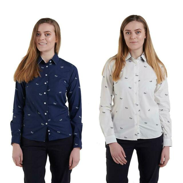 Hazy Blue Womens//Ladies Vinita Horse Print Long Sleeved Shirt