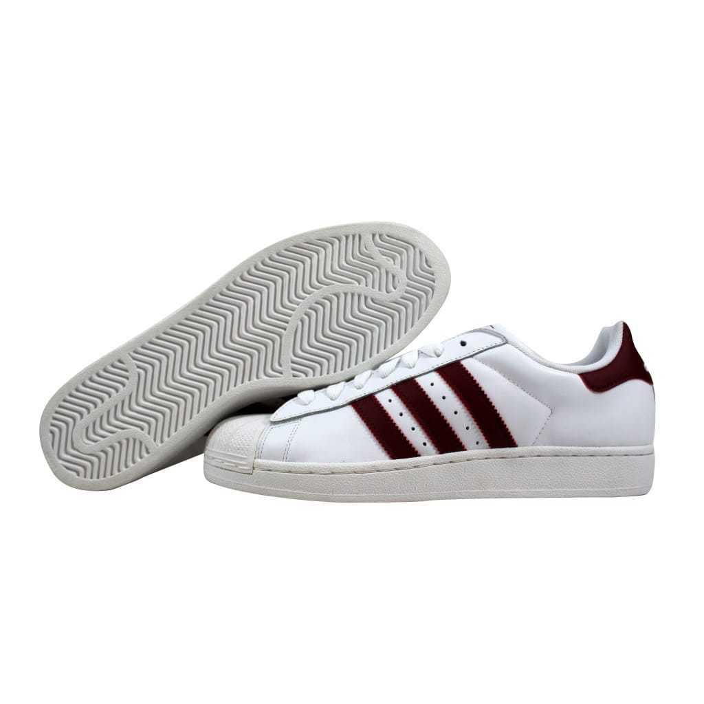 Adidas Superstar II 2 White Cardinal Red G15564 Men's SZ 8.5