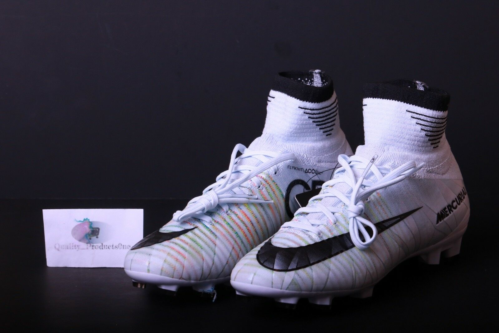 1c6ee9a2d2d Nike Jr Mercurial Superfly V DF Cr7 FG Soccer Cleats Sz 4y 922586 ...