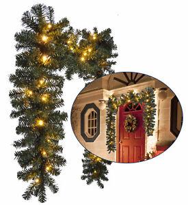 weihnachtsgirlande mit led beleuchtung 54428 tannengirlande weihnachtsdeko ebay. Black Bedroom Furniture Sets. Home Design Ideas