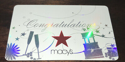 MACY/'S FOIL GIFT CARD PURPLE /& SILVER CONGRATULATIONS WEDDING RINGS NO VALUE NEW