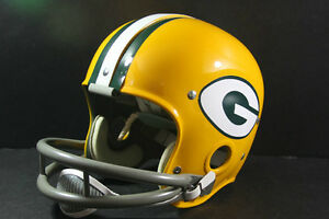 GREEN-BAY-PACKERS-Custom-Game-Style-RK-Vintage-Football-Helmet-Starr-Hornung