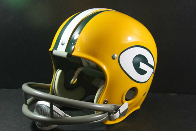 GREEN BAY PACKERS Custom Game Style RK Vintage Football Helmet Starr Hornung