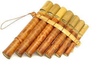 Flute de Pan Bambou Instrument Musique Bois Artisanat Panpipes ...