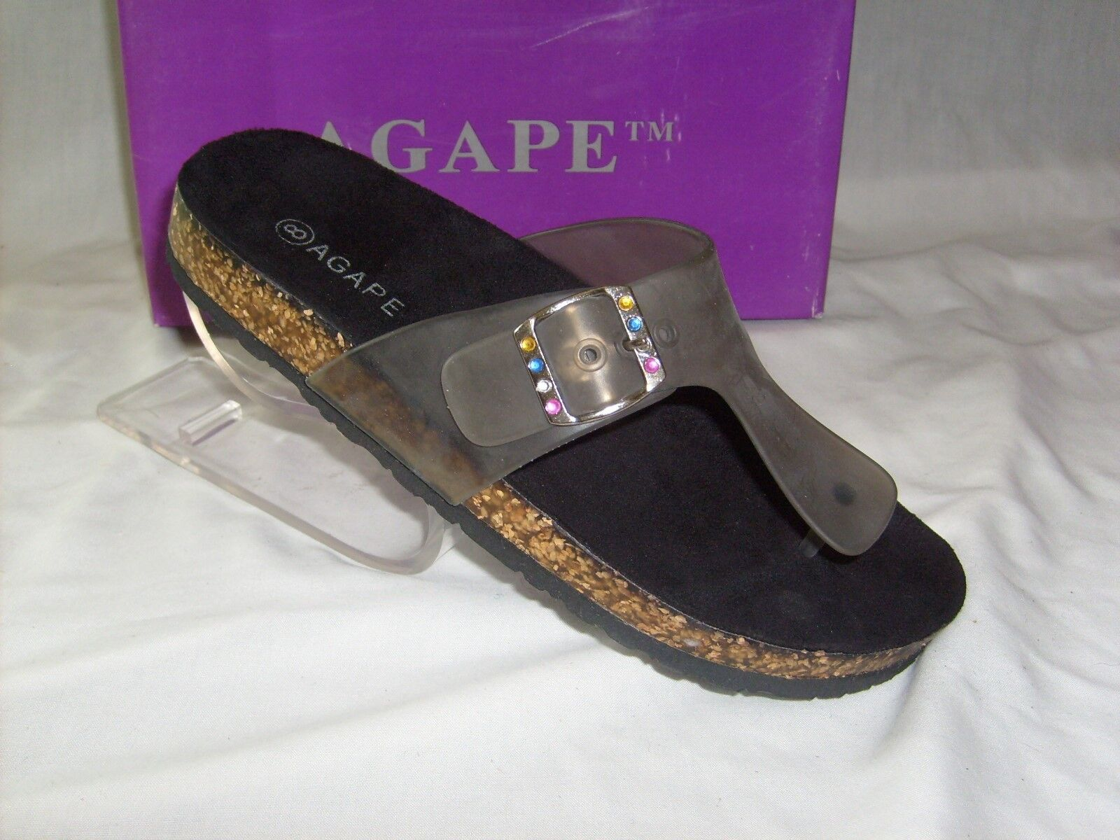 AGAPE COMFORTABLE IN INNER SOLE THONG NEW IN COMFORTABLE BOX 50ae17