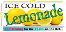 Lemonade All Weather Full Color Banner Sign 4 Ice Cold Lemon Stand Concession