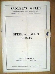 1953 Opera amp Ballet Season programme Sadler039s Wells Die Fledermaus by Norman - ilford, Essex, United Kingdom - 1953 Opera amp Ballet Season programme Sadler039s Wells Die Fledermaus by Norman - ilford, Essex, United Kingdom