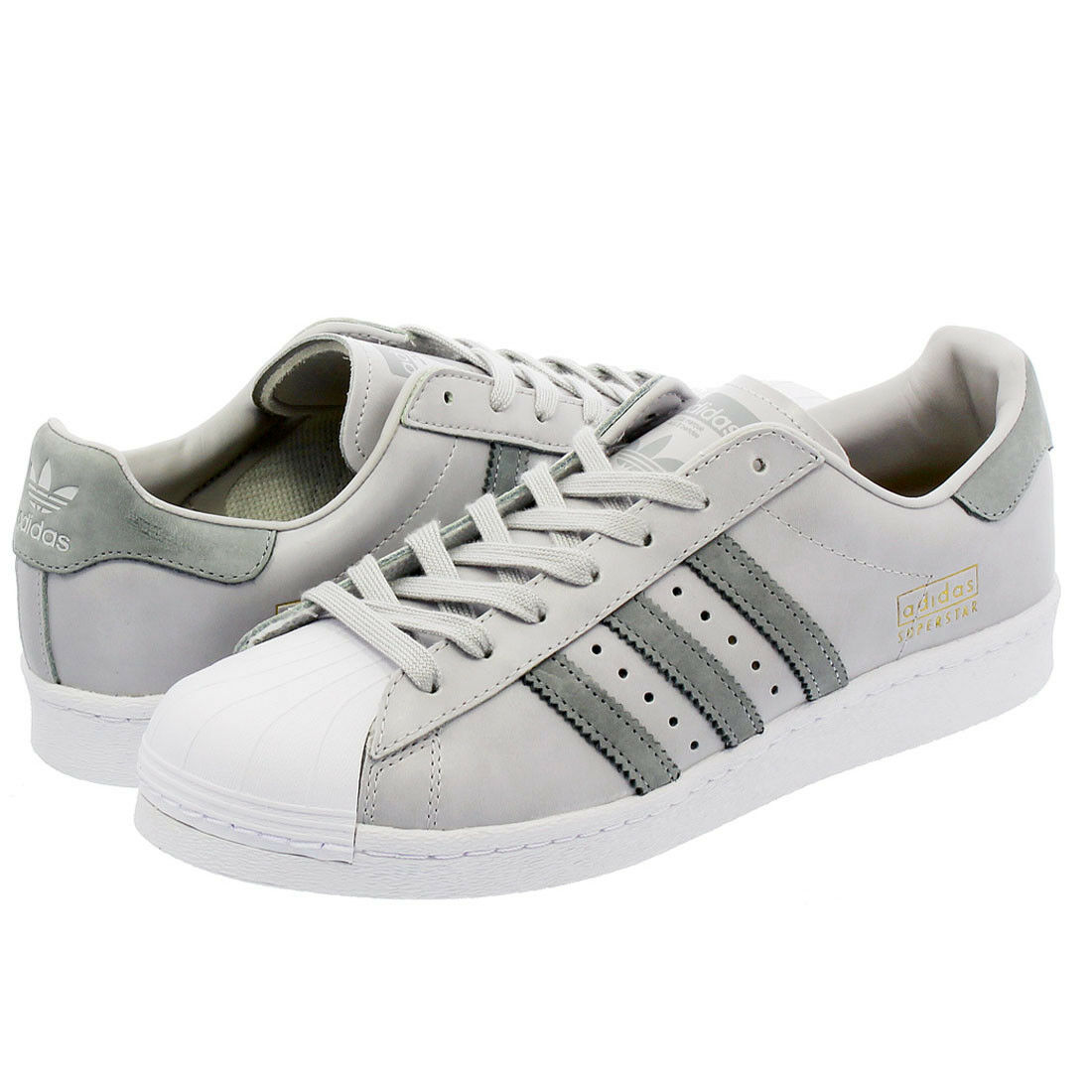 Adidas  Originals Superstar Boost Grau Weiß  Adidas Herren Trainers Sports Shelltoe Schuhe 06684f