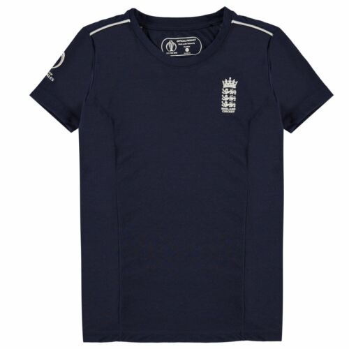 England Cricket Kids Junior Boys Polyester Short Sleeve Crew Neck T Shirt Top