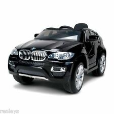 ride on kids car bmw x6 6v battery powered operated electric children toy black