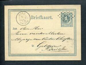 TEGEN-VOORSCHRIFTEN-puntstempel-39-GOES-op-briefkaart-1876-naar-GELDERN