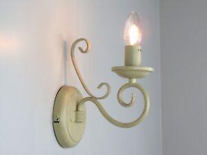 Lampada da parete applique classico rustico country shabby chic