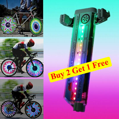 32 LED Flashing Colorful Bicycle Cycling Wheel Spoke Signal Light For Bike USA
