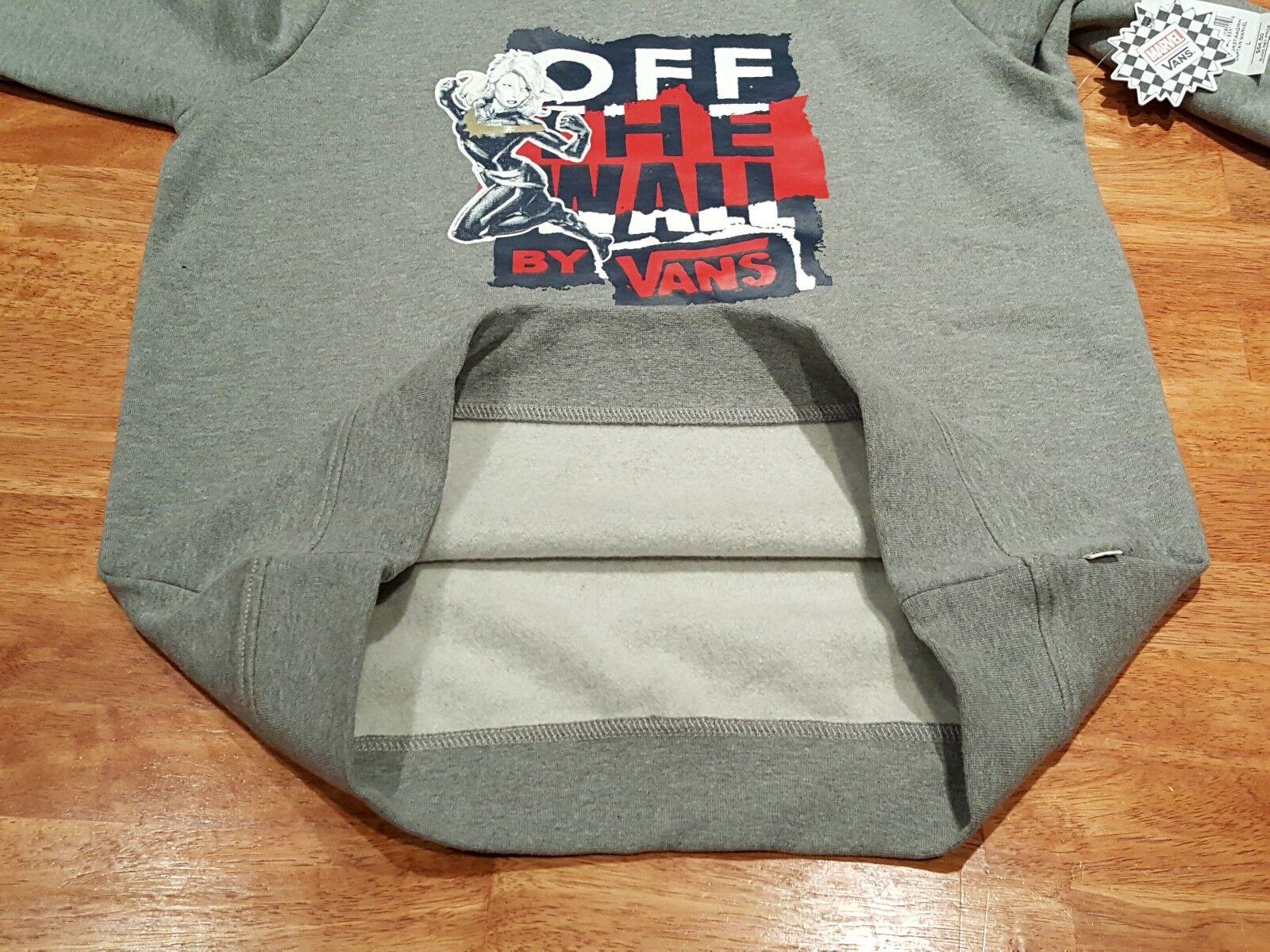 Vans Off Off Off The Wall Captain Marvel Crew Sweatshirt  MARVEL Collaboration, Sz L b26993
