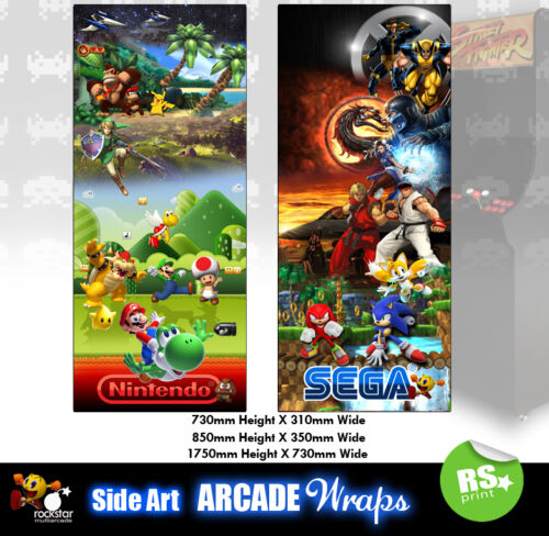 Multigame 3  Arcade Side Artwork Stickers Graphics  / Laminated All Sizes