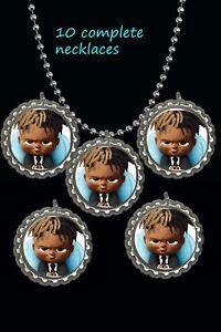 shrek  theme Bottle Cap Necklaces party favors lot of 10