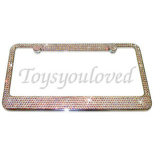 PALM TREE Crystal Bling License Plate Frame 100/% Austrian Crystals Rhinestones