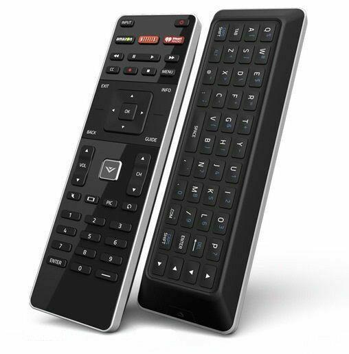 Black XRT500 Vizio Dual Side Remote Control with QWERTY Keypad