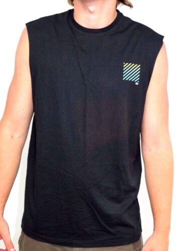 NWT Size L RRP $45.99. Men/'s Billabong Palm Invert Black Muscle Shirt // Tank