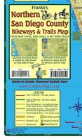 San Diego County - Northern - Bikeways & Trails Waterproof Map by Franko Maps