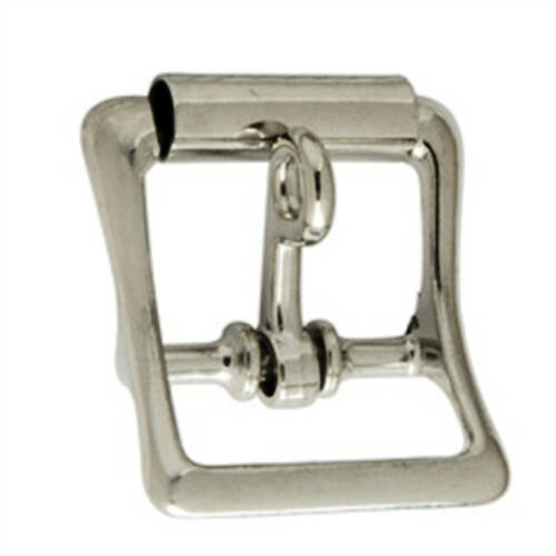 "All Purpose Roller Buckle w//Lock Nickel Plated 1/"" 1540-10 by Tandy Leather"