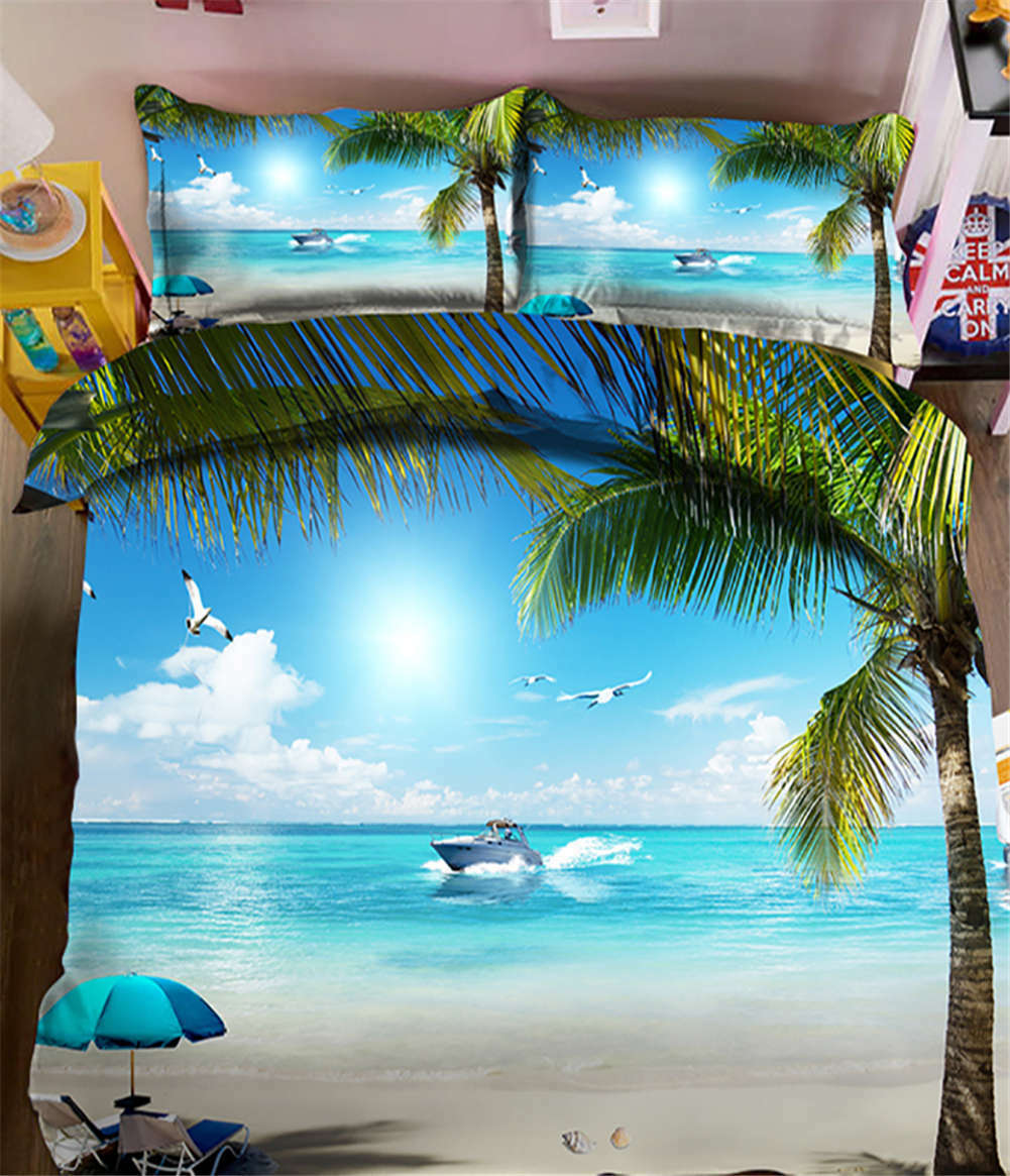 Waterfront Views 3D Printing Duvet Quilt Doona Covers Pillow Case Bedding Sets