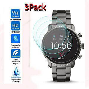 3X-For-Fossil-Q-Explorist-HR-Gen-4-Smartwatch-Tempered-Glass-Screen-Protector-US