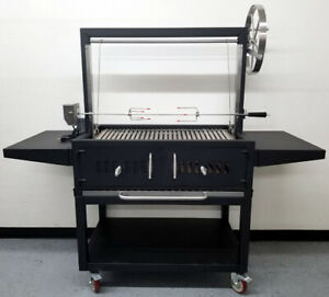 New-Outdoor-Argentine-Santa-Maria-Charcoal-Wood-BBQ-Grill-Spit-Roaster-Parrilla