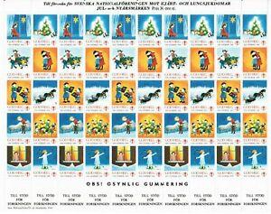 s26897) SWEDEN 1984/85 MNH** Tubercolosis Christmas Sheet God Helg cinderella