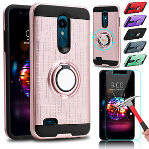 For-LG-Solo-4G-LTE-K40-K30-Xpression-Plus-Hybrid-Case-Cover-Screen-Protector
