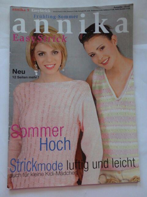 Annika Easy Strick Zeitschrift Frühling Sommer 01/07
