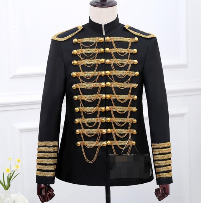 Para Hombres Cadena Borlas militar británica  de doble abotonadura Abrigo Chaqueta de Disfraz de mostrar  estar en gran demanda