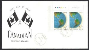 Canada  # 1902 Pair  SPECIAL SUMMIT OF THE AMERICAS CACHET  New 2001 Issue