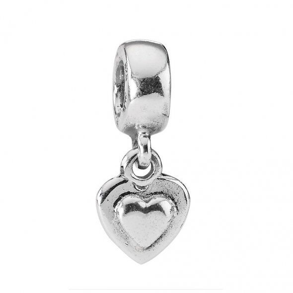 3-Heart Focal Plaque Majestic All Embossed STERLING Silver Artisan 3-HEART Dangle Charms Heart Toggle Clasp OOAK Charm Bracelet