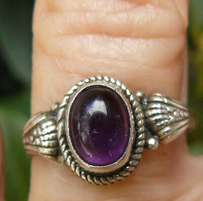 Amethyst Sterling Silver Ring Varied designs Rich Purple Gemstone size 5.5 to 10