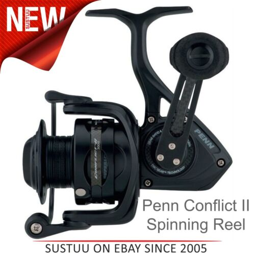 Penn Conflict II LONG CAST Spinning Fishing Reel │ R/L main │ Tailles 4000 To 7000