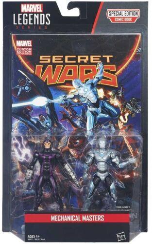 """MARVEL LEGENDS SECRET WARS 3.75/"""" MACHINE MAN /& SUPERIOR IRON MAN 2 PACK"""