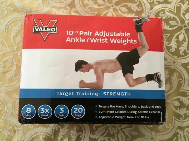 10 lb Adjustable Ankle Wrist Weights Running Cardio Leg Arm Exercise Workout Gym