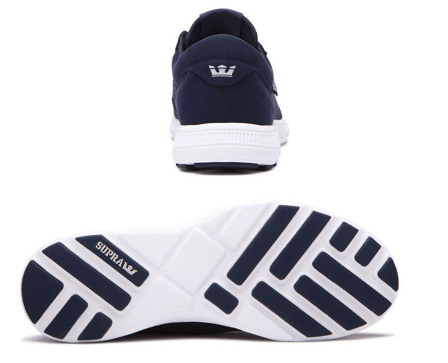 SUPRA Hammer Run Lightweight Mesh Trainer Sporty Weiß Gym Sneaker Schuhe Navy Weiß Sporty fbc376