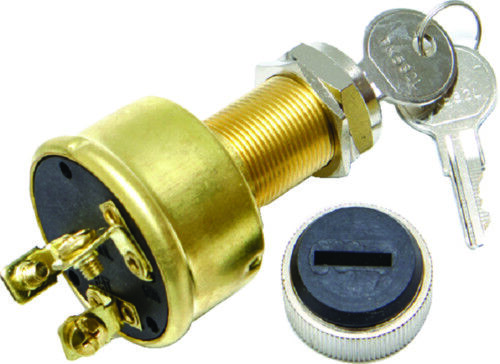 Sierra Conventional 3 Position 3 Screw Terminal 12V 15A Ignition Starter Switch